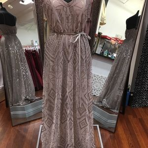 Dresses - Sequin mesh formal gown by Angelina Faccenda
